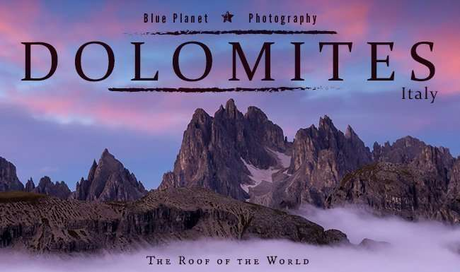 Dolomites, Italy, photography workshop with Blue Planet Photography